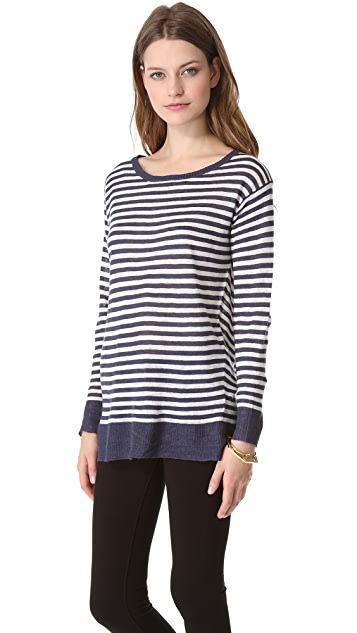 Nili Lotan Crew Neck Stripe Sweater