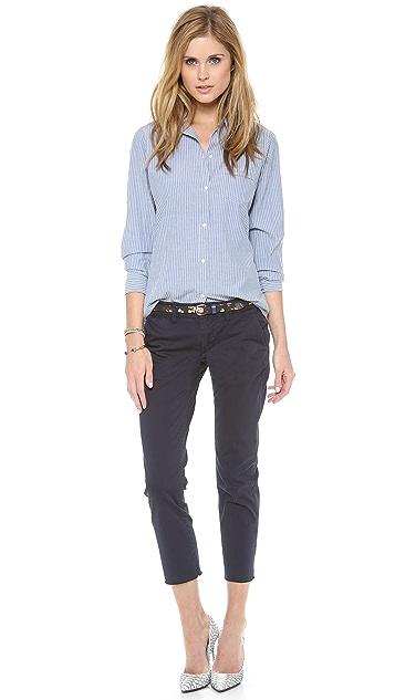 Nili Lotan Novelty Chambray Stripe Shirt