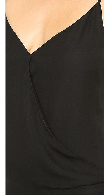 Nili Lotan Draped Overlap Dress