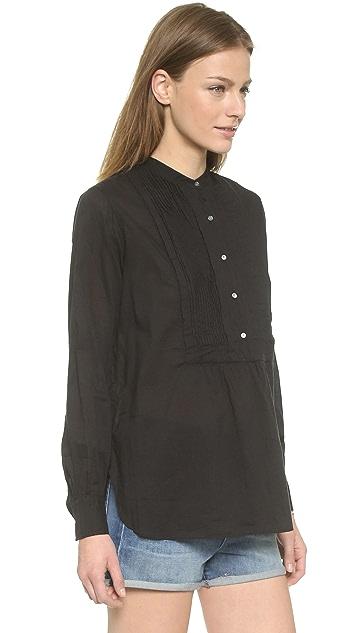 Nili Lotan Tuxedo Peasant Shirt