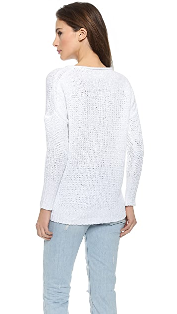 Nili Lotan Open Stitch Asymmetrical Sweater