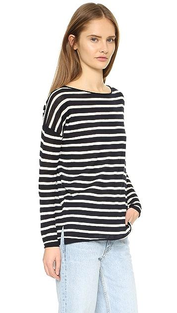 Nili Lotan Striped Crew Neck Sweater