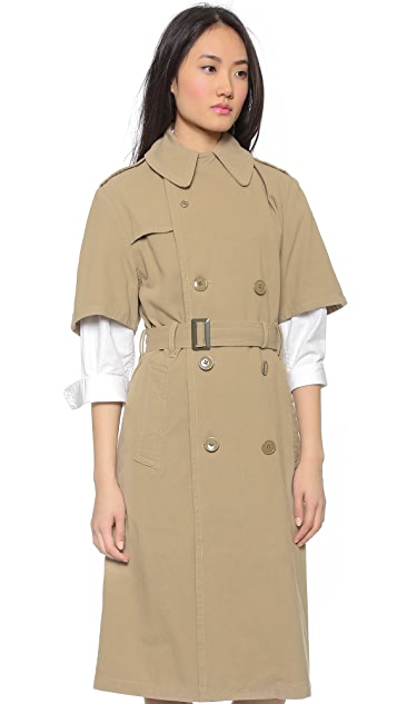 NLST Пальто-тренч с короткими рукавами