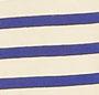 Blue with Ecru Stripe