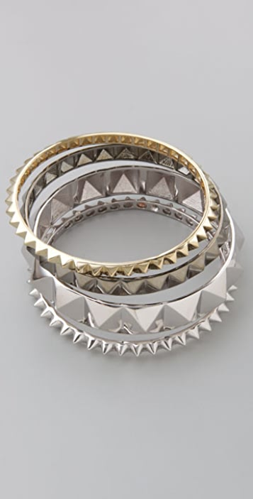 Noir Jewelry Pyramid Bangle Set