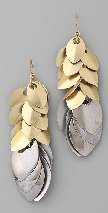Noir Jewelry Feather Dangle Earrings