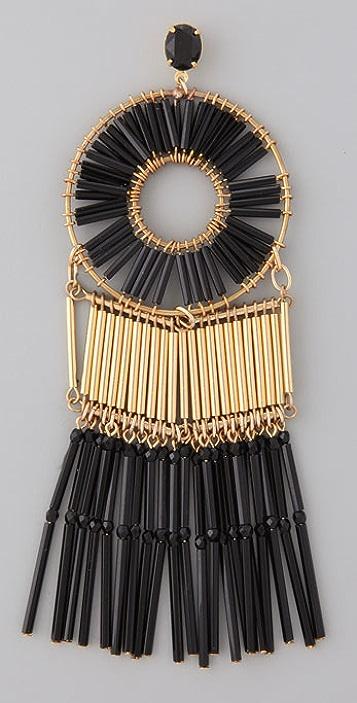 Noir Jewelry Oversized Beaded Earrings