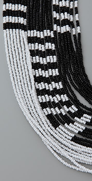 Noir Jewelry Multi Strand Beaded Necklace