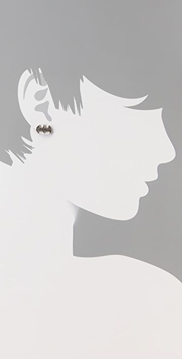 Noir Jewelry nOir for DC Comics Batgirl Stud Earrings