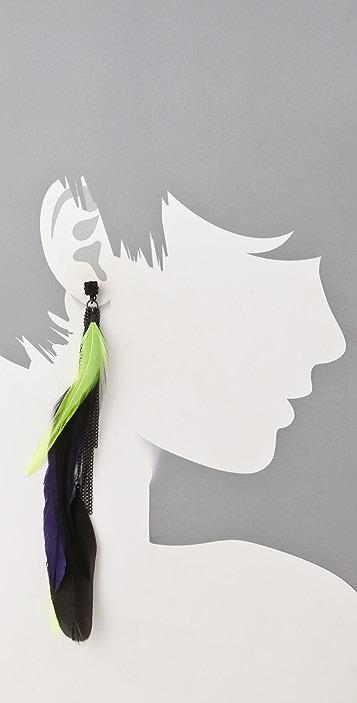 Noir Jewelry Feather Earrings