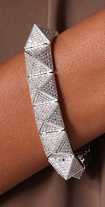 Noir Jewelry Pyramid Bracelet With Pave Crystals