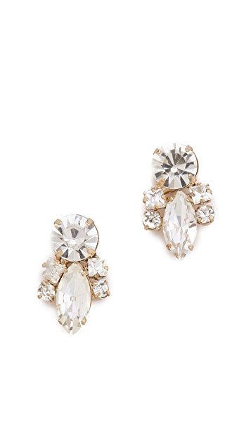Noir Jewelry Crystal Cluster Earrings