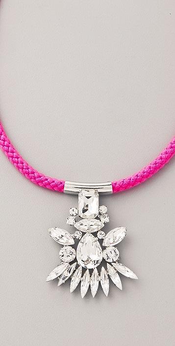 Noir Jewelry Neon Crystal Pendant Necklace