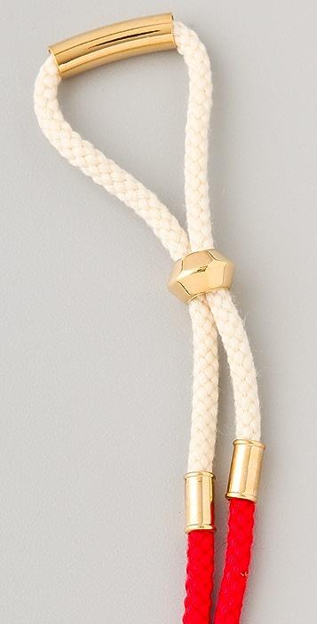 Noir Jewelry Noir for L.A.M.B. Long Dart Cord Necklace
