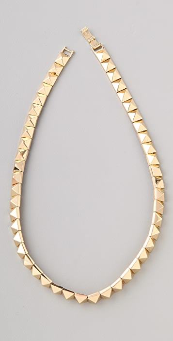 Noir Jewelry Pyramid Stud Necklace