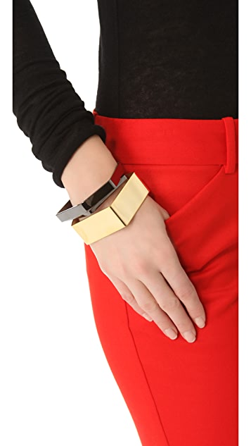 Noir Jewelry Noir for L.A.M.B. Geometric Bangles Set