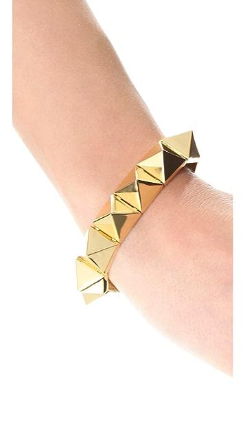 Noir Jewelry Pyramid Stud Bracelet