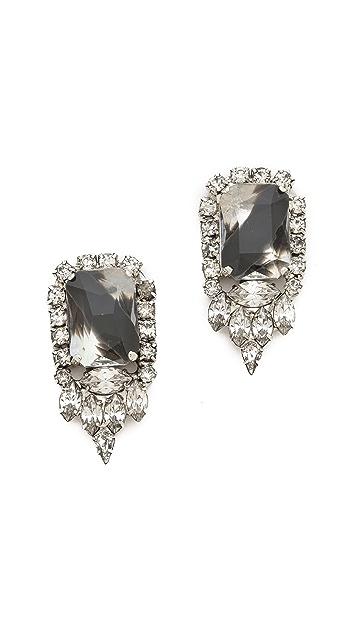 Noir Jewelry Crystal Stud Earrings