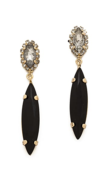 Noir Jewelry Gem Drop Earrings
