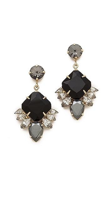Noir Jewelry Small Crystal Drop Earrings