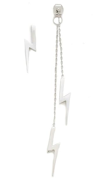Noir Jewelry Bolt Earrings