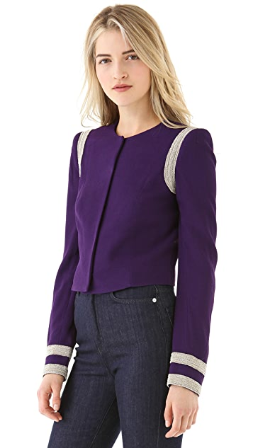Misha Nonoo Fitted Jacket with Piping