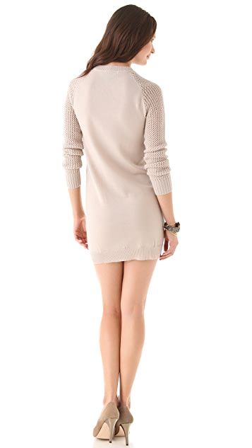Misha Nonoo Mesh Knit Sleeve Dress