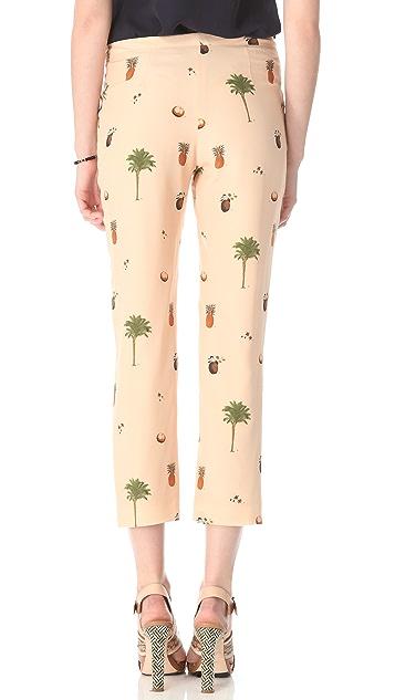Misha Nonoo Botanical Print Trousers