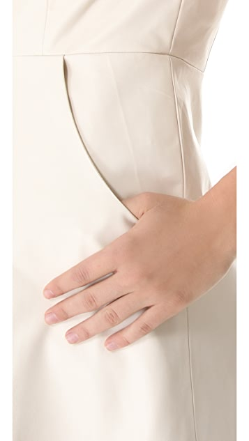 Misha Nonoo Pliar Leather Dress