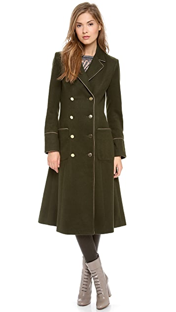 Misha Nonoo Long Coat with Piping