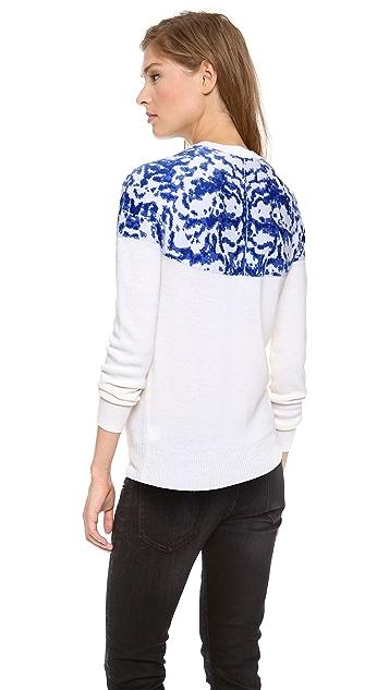 Misha Nonoo Printed Porcelain Bess Sweater