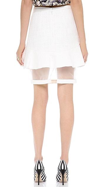 Misha Nonoo Martha Tweed Flounce Skirt