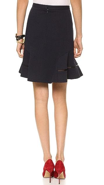 Misha Nonoo Flare Skirt with Chiffon Inserts