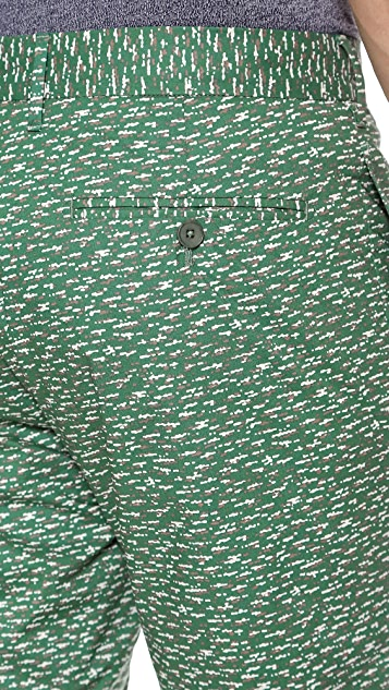 Norse Projects Bruno Poplin Slub Print Shorts