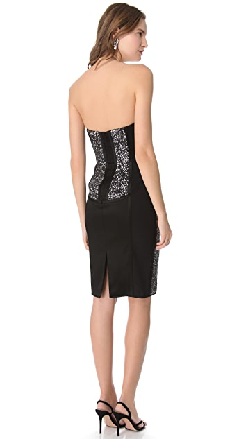 Marchesa Notte Sequin Corset Dress