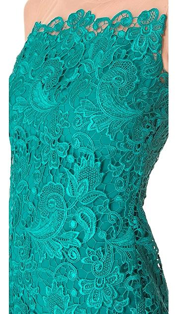 Marchesa Notte Lace Sheath Cocktail Dress