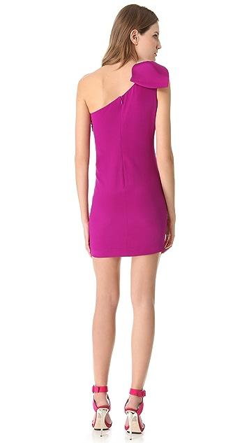 Marchesa Notte One Shoulder Cocktail Dress