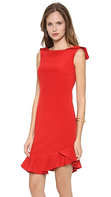 Marchesa Notte Silk Crepe Cocktail Dress