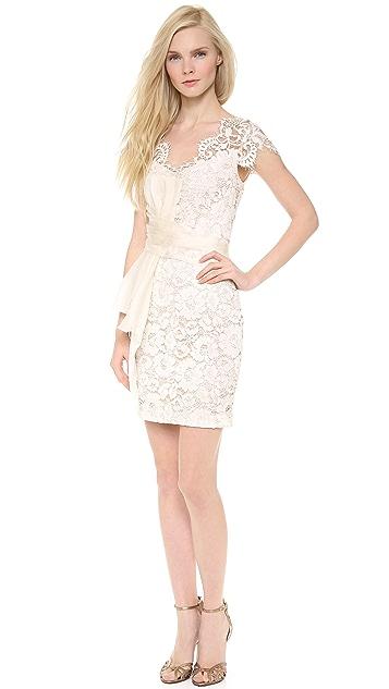 e8c778866d1 Marchesa Notte Lace Cap Sleeve Cocktail Dress