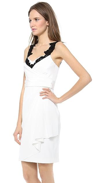 Marchesa Notte Silk Crepe Dress