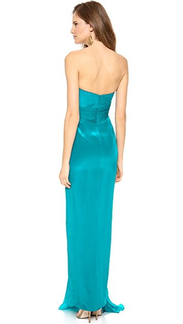 Marchesa Notte Silk Crepe Gown