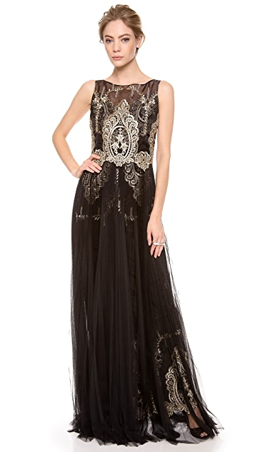 Marchesa Notte Sleeveless Gown