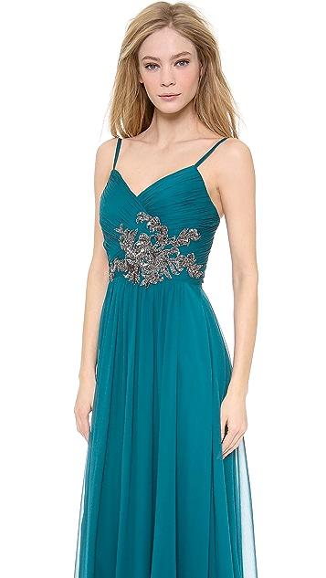 Marchesa Notte Chiffon Gown