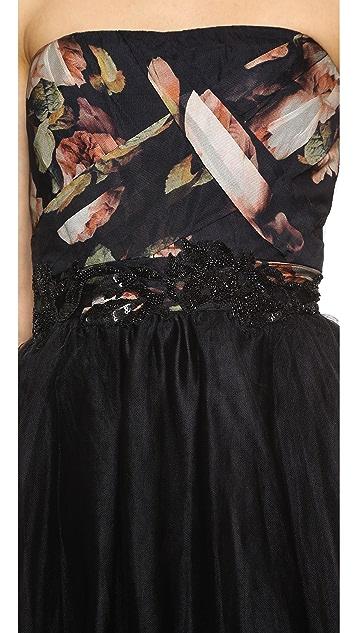 Marchesa Notte Strapless Ball Gown