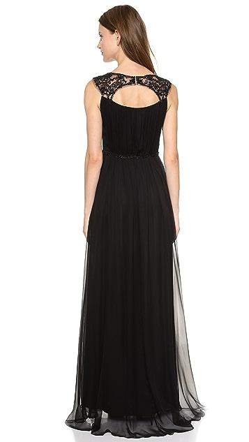 Marchesa Notte Silk Chiffon Gown