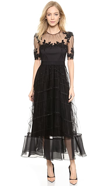 Tea Length Dresses with Tulle