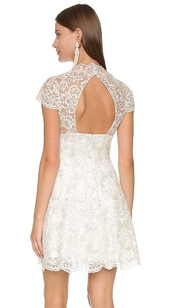 Marchesa Notte Cap Sleeve Dress