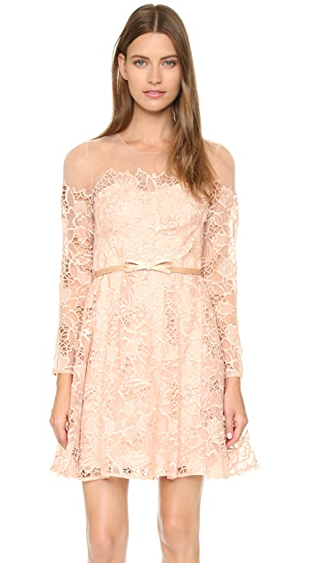 Marchesa Notte Long Sleeve Cocktail Dress