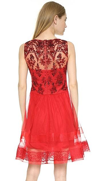 206744e4d7d ... Marchesa Notte Sleeveless Lace Cocktail Dress ...