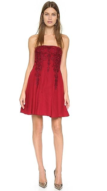 Marchesa Notte Strapless Dress